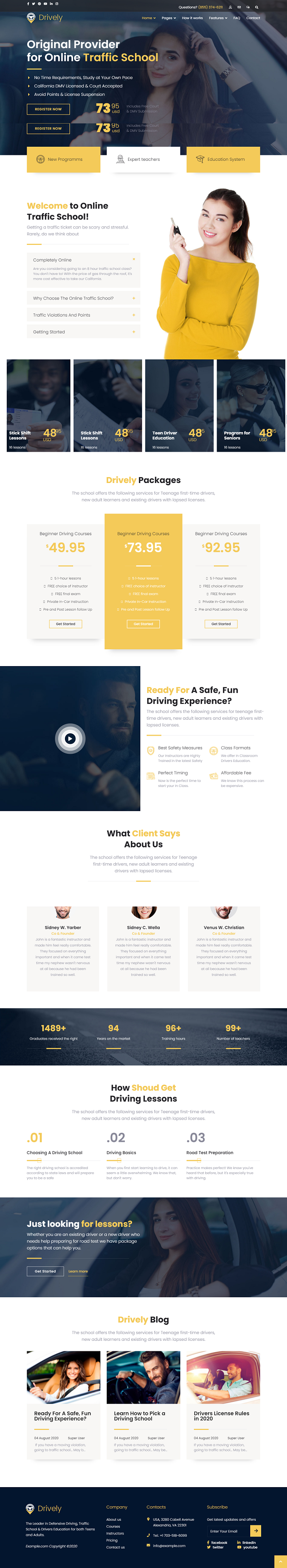 Drively - Driving School Joomla Template | Drivers - 2